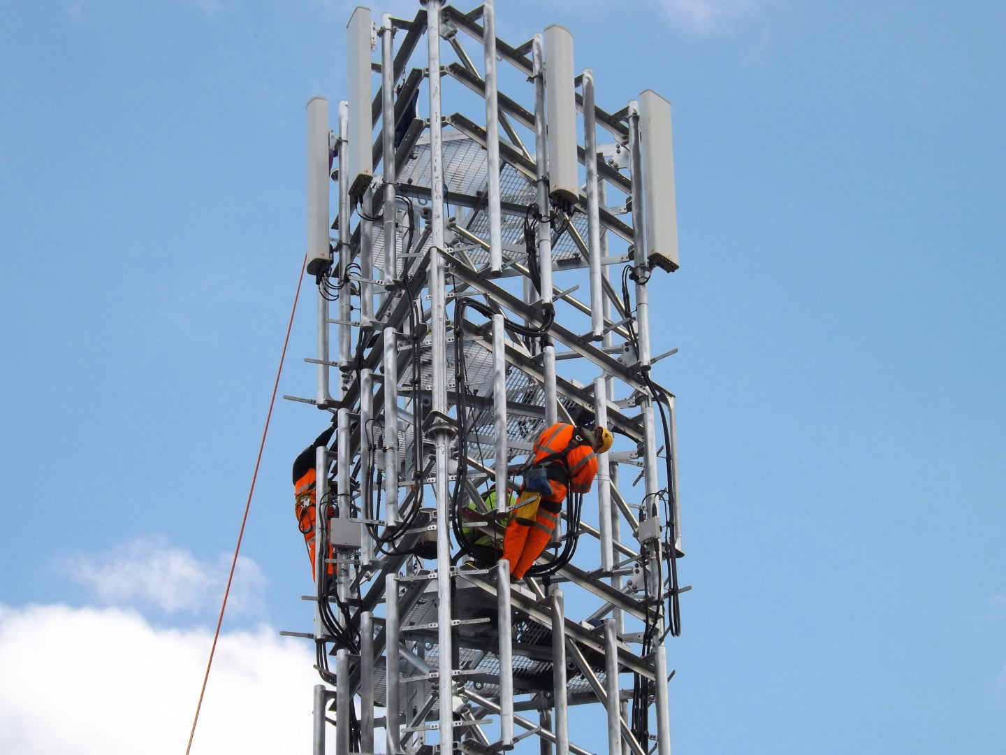 WHP engineers maintaining emergency services networks.