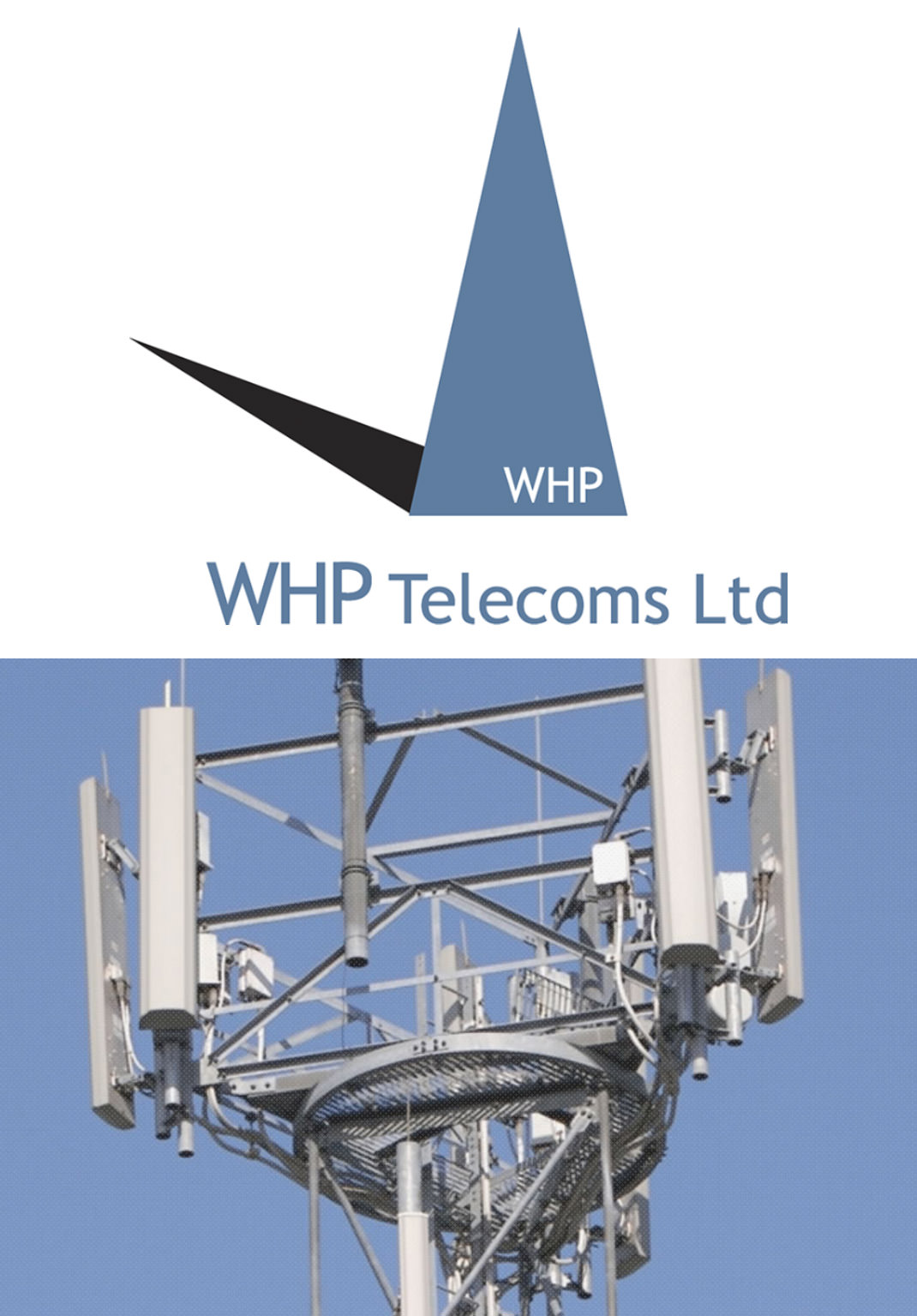 WHP Telecoms logo and image